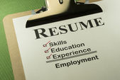Successful Employment Concept With Resume Checklist — Stock Photo