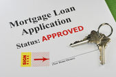 Approved Real Estate Mortgage Loan Document Ready For Signature — Stock Photo
