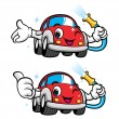 Cars Character Car Wash to Cool — Stock Vector