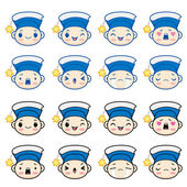 Kid's variety of expressions — Stock Vector