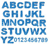 A large number of 3d Glass alphabet spelling art array — Stock Photo