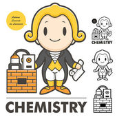 Lavoisier the father of modern chemistry — Stock Vector