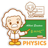 Einstein, the father of physics, Department of Physics — Stock Vector