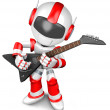 Stock Photo: The playing electric guitar in Robot. 3D Robot Character