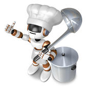Is the best gesture of a chef. 3D Chef Character — Stock Photo