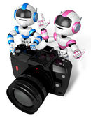 A robots Taken with a digital camera. 3D Robot Character — Foto de Stock