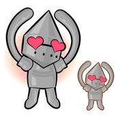 Een gebaar van de ridder in het verhaal van de liefde, ridderlijke armor teken des — Stockvector