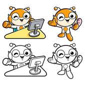 Promozione delle vendite è un personaggio di bug. un insetto haracter design — Vettoriale Stock