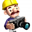 Construction site staff a photo shoot. 3D Jobs Character Design — Stock Photo