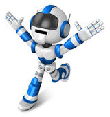 Ten thousand and three and ran a blue Robot. 3D Robot Character — Stock Photo