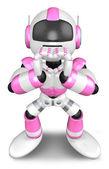 Geste de robot rose d'amour. design des personnages 3d robot — Photo