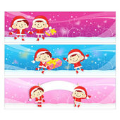 Santa Claus and Rudolph mascot the event activity. Christmas Cha — 图库矢量图片