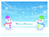 Snowman Mascot the event activity. Christmas Character Design Se — Stok Vektör