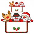 Santa Claus and deer mascot the event activity. Christmas Charac — Image vectorielle