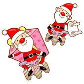 Mascote do papai noel a atividade do evento. natal personagem desig — Vetor de Stock