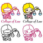 The goddess of justice and law, Dike Mascot. Education Character — Stock Vector
