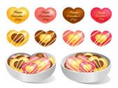 Love of cookies and chocolate. Valentine Icon Design Series. — Stok Vektör