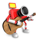 To the Right toward the Red Camera Character playing the guitar. — Stock Photo