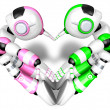 The heart in the form of body language. Create 3D Humanoid Robot — Stock Photo #23229992