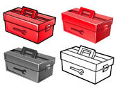 Manifold styles of Toolbox Sets. Industrial market Items Vector — Stock Vector