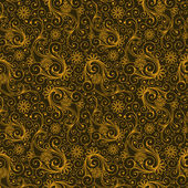 Yellow and Brown Colors Art Nouveau Style Plant Pattern design. — 图库矢量图片