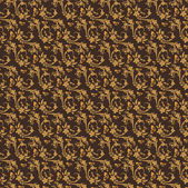 Brown Colors Art Nouveau Style Pattern design. Original Pattern — Stockvektor
