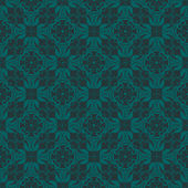 Bluish Green Colors Flower and Plant Pattern Design. Korean trad — Stock vektor