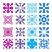 Various styles of Round grid Sets. Original Pattern and Symbol S — Vector de stock