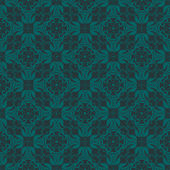Bluish Green Colors Flower and Plant Pattern Design. Korean trad — Stockvector