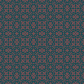 Charcoal Colors Art Nouveau Style Plant Pattern design. Original — Stock Vector
