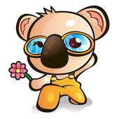 Flexibility as possible a sets of Koala Character. Animal Charac — Stock Vector