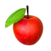 Frischen roten apfel. lebensmittel und speisen-serie. — Stockfoto