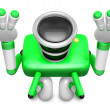 Stock Photo: Green CamerCharacter kneel in prayer. Create 3D CamerRobot S