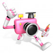 Best gesture of right hand is taking Master Pink Camera — Stock Photo #31364201