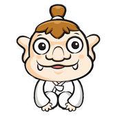 Korea goblin maskot är en artig hälsning. Korea traditionella kulten — Stockvektor