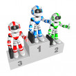 Awards Ceremony of Business Robot. Create 3D Humanoid Robot Ser — Stock Photo