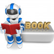 Stock Photo: Flexibility as possible sets of robot Mascot. Create 3D Humano