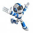 Ten thousand and three and ran a blue Robot. Create 3D Humanoid — Stock Photo