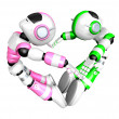 Stock Photo: Heart in form of body language. Create 3D Humanoid Robot
