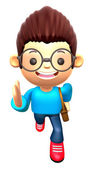 Boys character on Running. 3D Family and Children Character Desi — Stock Photo