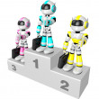 Awards Ceremony of Business Robot. Create 3D Humanoid Robot Ser — Stock Photo #34210165