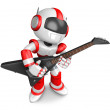 To the left toward the Red Robot Character playing the guitar. C — Stock Photo