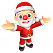 The Santa mascot has been welcomed with both hands. 3D Christmas — Stock Photo #36309851