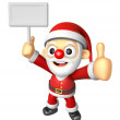3D SantMascot right hand best gesture and left hand is hol — Stock Photo #36649603