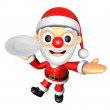 Foto Stock: 3D Santmascot right hand guides and left hand is holdi