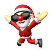 Wear sunglasses 3D Santa character is written to be powerful and — ストック写真