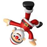 3D Santa mascot playing breakdance. 3D Christmas Character Desig — Stock Photo #36771579