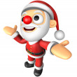 3D Santa mascot has been welcomed with both hands. 3D Christmas — Stock Photo #36771987