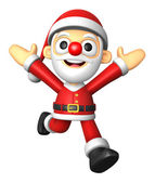 3D Santa character on powerfull Running. 3D Christmas Character — Foto de Stock