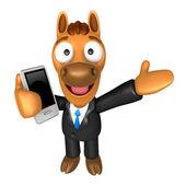 Guías de mascota caballo 3d la mano derecha y la mano izquierda es holdi — Foto de Stock